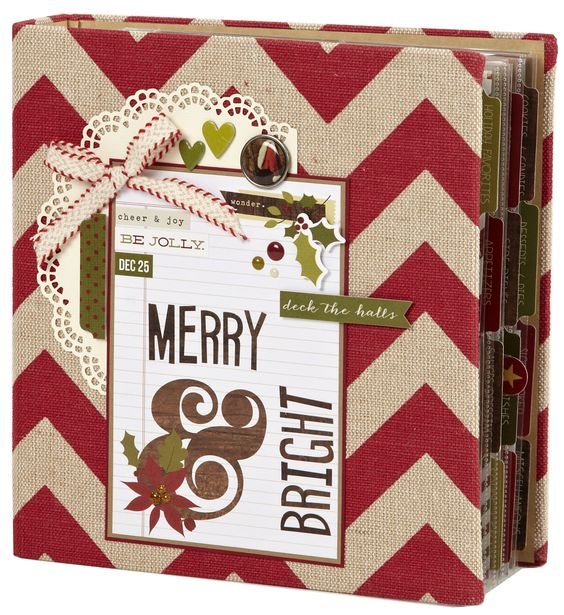 Merry & Bright - Scrapbook.com - Christmas album made with Simple Stories Cozy Christmas collection.