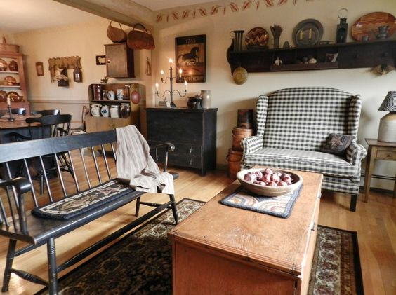 Primitive Living Room | Primitive Living Room Decor / Living Room