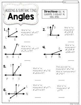 Angles Worksheets Angles Worksheet 4th Grade Math 3rd Grade Math