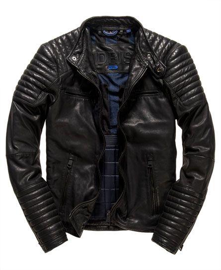 Superdry biker leather jacket