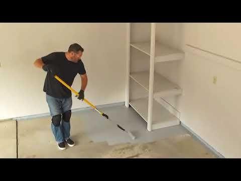 H C Shield Crete Water Based Epoxy Garage Floor Coating Youtube Garage Floor Coatings Epoxy Garage Floor Coating Garage Floor