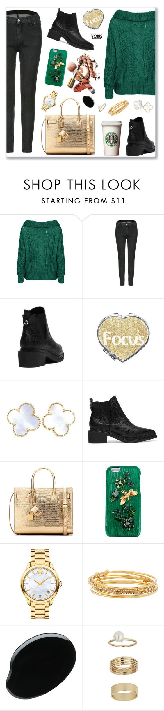 """""""yoins134"""" by nastenkakot ❤ liked on Polyvore featuring Van Cleef & Arpels, Yves Saint Laurent, Dolce&Gabbana, Movado, Kate Spade, Miss Selfridge, yoins, yoinscollection and loveyoins"""