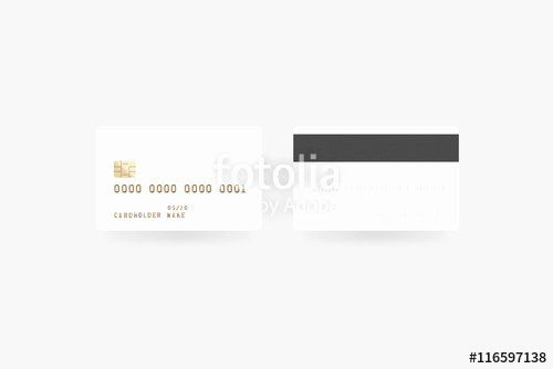 Blank Credit Card Template Awesome Blank White Credit Card Mockup Isolated Clipping Path Card Template Card Templates Printable Template Printable