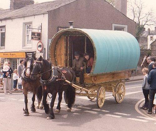 Appleby fair #caravan #roulotte #wagon #horse #animal #creature #life #equine #transport