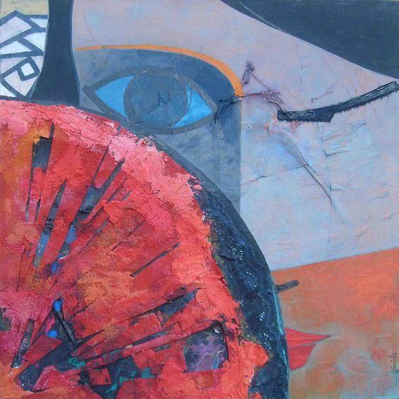 Paco arias jarme con los ojos se as 50x50 cm - Acrilico sobre lienzo ...