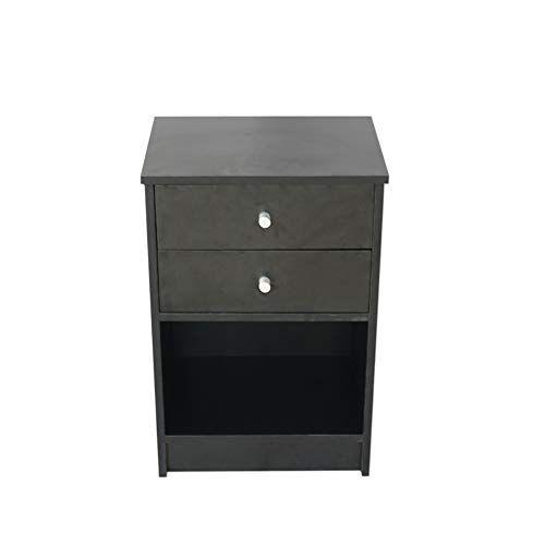 Goujxcy Black Nightstand Modern Black Nightstand Bedside Table