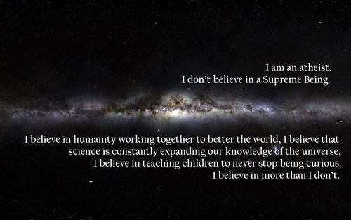 I believe in humanity working together to better the world, I believe that science is constantly expanding our knowledge of the universe, I believe in teaching children to never stop being curious.