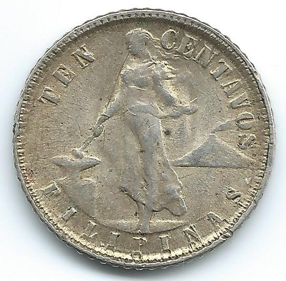 Philippines 1945 10 Centavos   https://ajunkeeshoppe.blogspot.com/