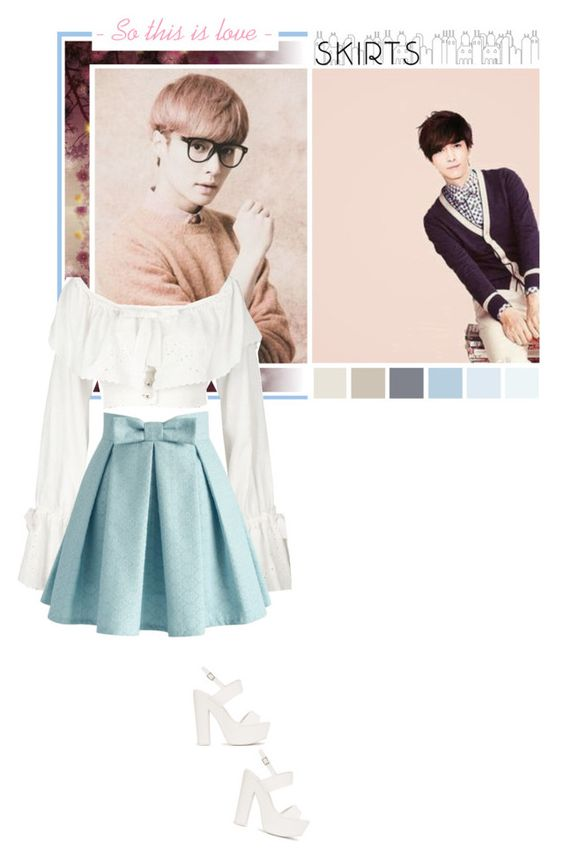 """Yixing [ EXO ] ✿ So this is love ✿"" by julia-ngo ❤ liked on Polyvore featuring Brian Yates, Chanel, Nly Shoes and Chicwish"