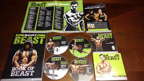 Body Beast DVD set with mobile training app, the Book of Beast, and workout calendar!