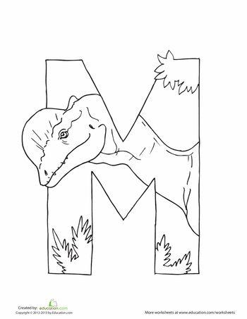 Dino Alphabet Printable letters
