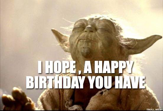21s Birthday Yoda Happy Birthday Funny Happy Birthday Wishes Star Wars Happy Birthday