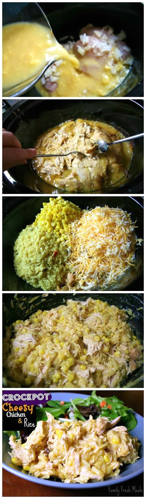Crockpot cheesy chicken rice recipe soups the rice for Best dinner recipes ever