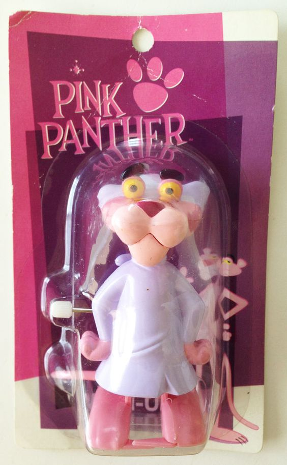 PINK PANTHER Wind-Up Figure Pajamas Ver. Heart Art Collection JAPAN #HeartArtCollection