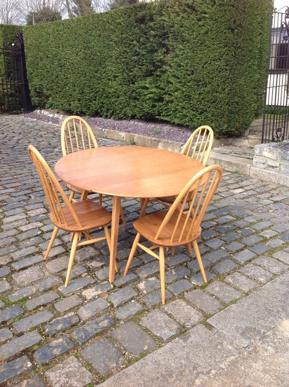 Ercol Drop Leaf Table  4 Chairs New Home!!! Pinterest