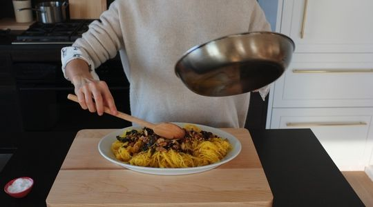 Roasted spaghetti squash-almond butter-15