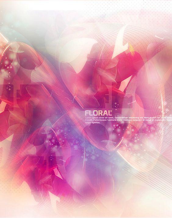 Floral by Onur Can Coban, via Behance