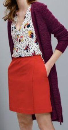 wrap front a-line miniskirt