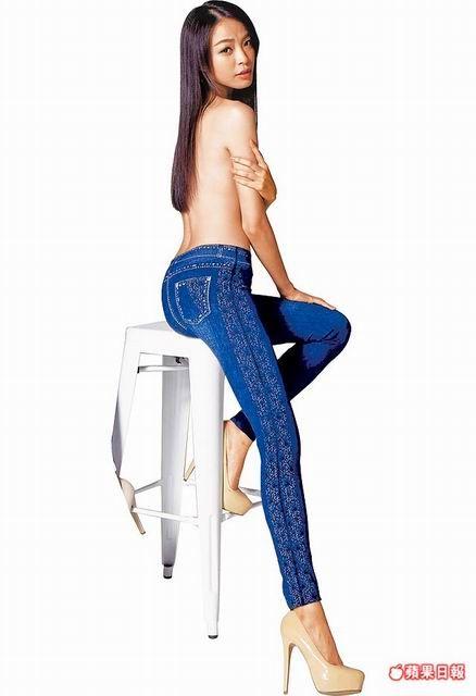 李培毓裸上身為伊林推出的「神美褲」拍形象照。