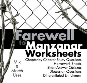 Printables Farewell To Manzanar Worksheets worksheets on pinterest farewell to manzanar japanese internment hw discussion for memoir