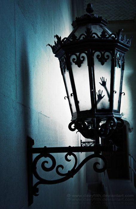 Have you ever been walking at night and see the candlesticks glow?   I have once and ne'er shall forget the sight that scared me so.   For in that lamp, growing quite dim, two little hands did shine from within...  ~Mauri C.