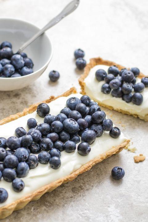Blueberry mascarpone tart: