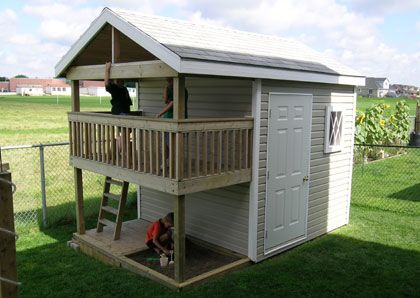 playhouse storage shed outdoor playhouse plans home On shed and playhouse combo plans