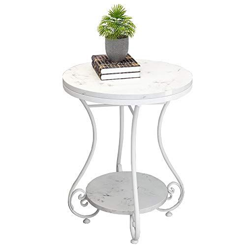 Zhirong Side Table 2 Tiers Round Marble Coffee Table Living Room Mini Corner Table Bedroo Marble Coffee Table Living Room Coffee Table Living Room Coffee Table