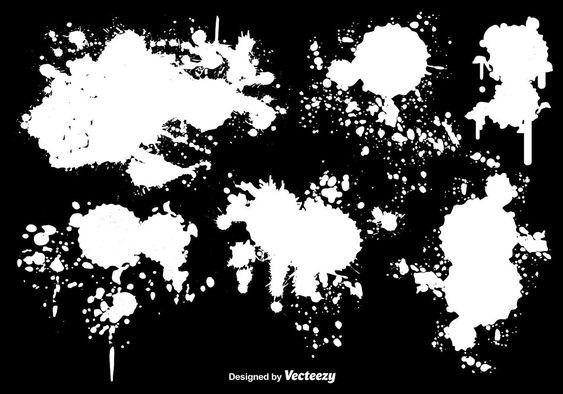 White Paint Splatter Vectors Paint Splatter Painting White Paints