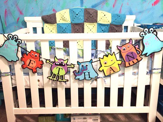 Monster theme crib