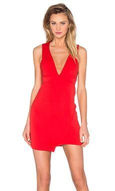 BEC&BRIDGE Desert of Paradise Deep V Mini Dress in Red