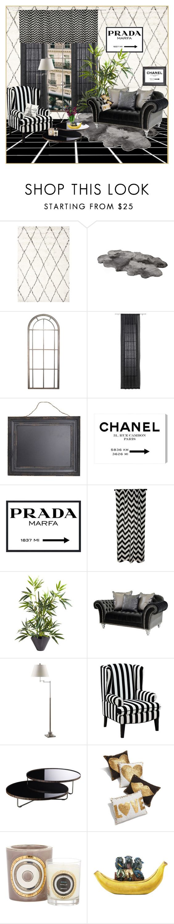 """""""Senza titolo #1671"""" by aanyaa ❤ liked on Polyvore featuring interior, interiors, interior design, home, home decor, interior decorating, nuLOOM, CB2, Prada and Elisabeth Michael"""