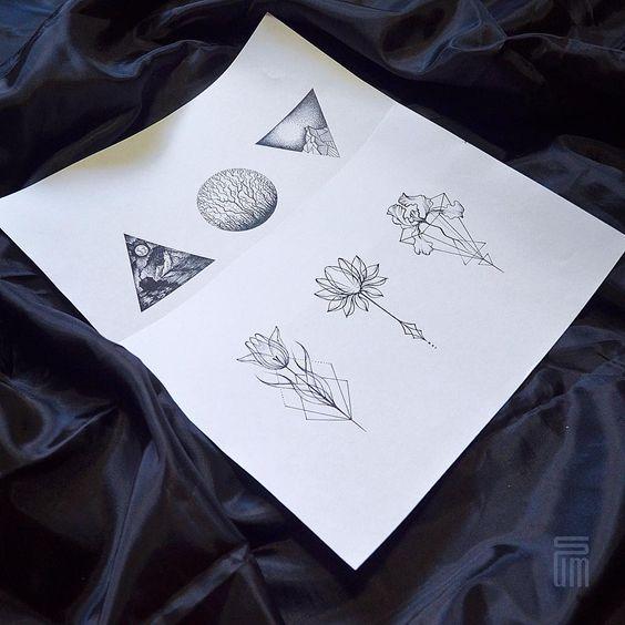 «Свободные эскизы  #tattoo #dotwork #linework #sketch #sketchtattoo #geometrictattoo #flowertattoo #blackwork #blackworktattoo»