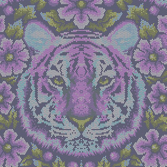 Amethyst Crouching Tiger - Eden by Tula Pink - Designerstoff