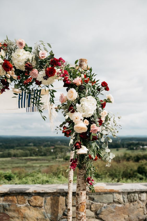 Bluemont Vineyard Virginia Wedding, virginia wedding venue, virginia winery wedding, best virginia wedding venues, best virginia wedding photographer, rustic wedding inspiration, organic wedding inspiration, deep red wedding flowers, red wedding flowers, king table wedding inspiration, mint bridesmaid dresses, green garland wedding inspiration, best first look reaction, best groom reaction, first look wedding photo