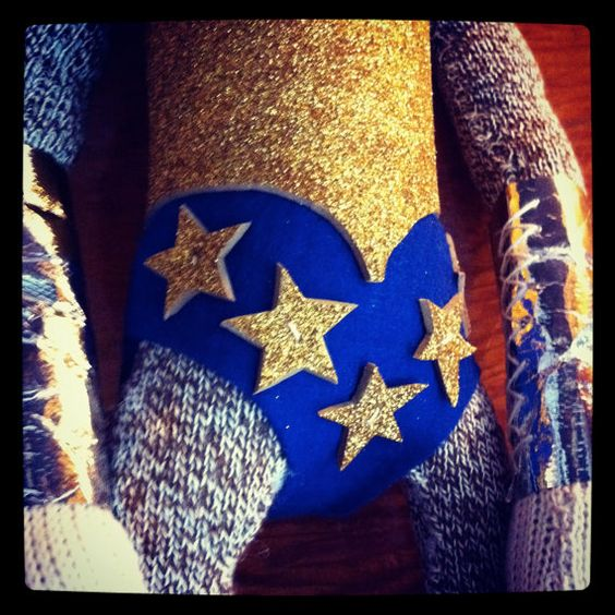 Wonder Woman Sock Monkey made to order by POST by katarinathorsen, $85.00