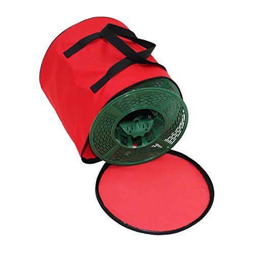 Set Of 5 Christmas Light Storage Reels With Red And Green Polyester Zip Up Bag By Dyno Check Christmas Light Storage Christmas Lights Christmas Tree Storage