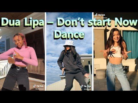 Dua Lipa Don T Start Now Dance Tiktok Youtube Lipa Dance Girl Dancing