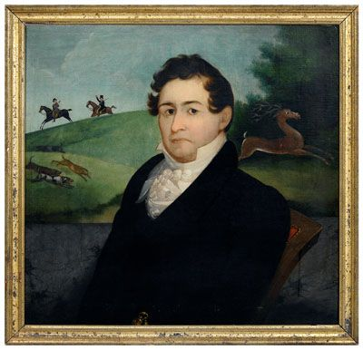 Edwin B. Smith rare Georgia Portrait of Robert Ransome Billips against a landscape - Sold at Brunk Auctions for $96,600:
