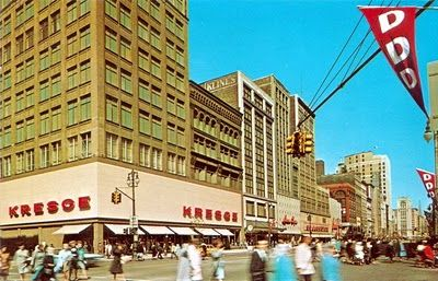 Kresge Dime Store, had the best caramel corn and slices of pizza