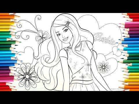 Satisfying Color Videos 11 How To Coloring Flowers Barbie Book Page Colored Pencil Youtube Barbie Books Colorful Flowers Youtube