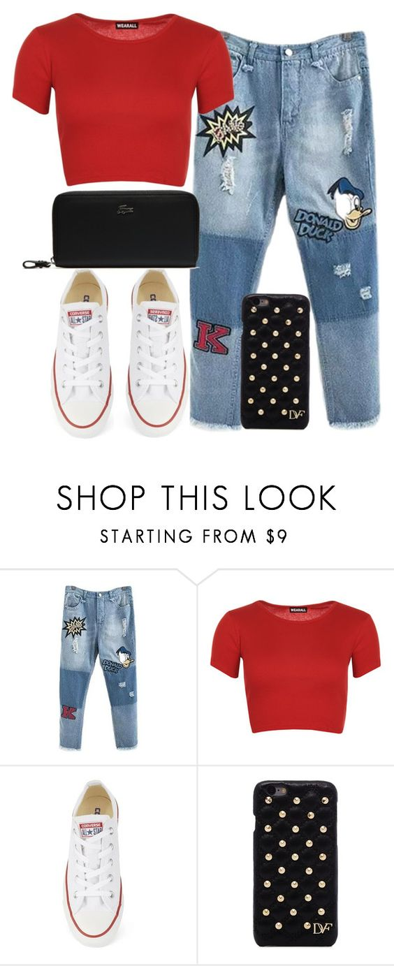 """Untitled #1853"" by memelovely ❤ liked on Polyvore featuring WearAll, Converse, Diane Von Furstenberg, Lacoste, women's clothing, women, female, woman, misses and juniors"