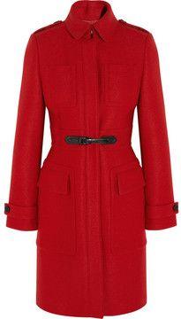 Burberry London Buckle-detailed wool coat #wintercoats #coats #burberry