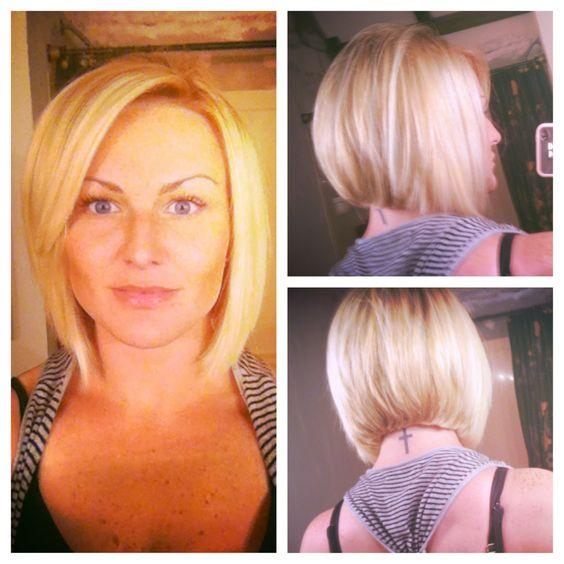 My Haircut A line Bob Love it Hair Cuts