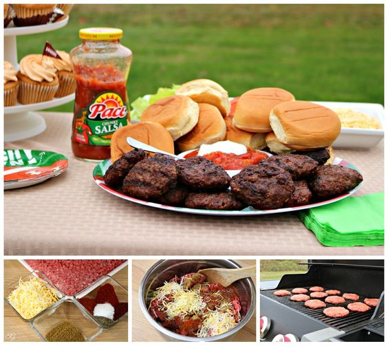 Taco Burger Sliders Recipe with Salsa and Toppings