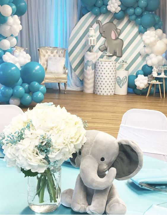 Elephant Baby Shower Party Ideas   Photo 2 of 16   Catch My Party