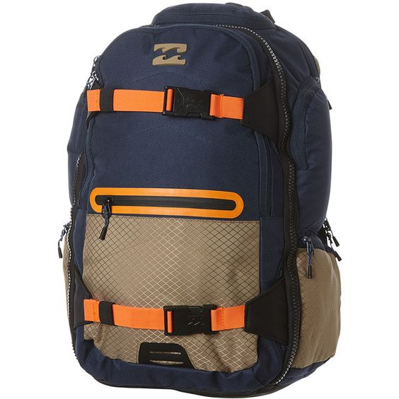 Mens Billabong Combat 35l Backpack Blue Cotton (100 AUD) ❤ liked on Polyvore featuring men's fashion, men's bags, men's backpacks, backpacks, bags, blue, men, mens backpacks and mens travel backpack
