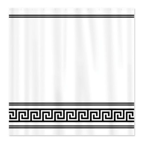 Curtains Ideas art deco curtains : Art Deco Geometric Black and White Shower Curtain | Shower ...