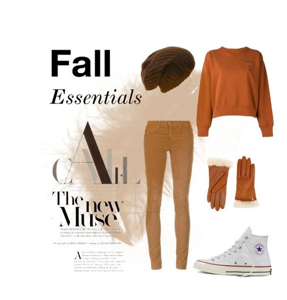 """""""Fall essentials"""" by saesmith ❤ liked on Polyvore featuring Étoile Isabel Marant, AG Adriano Goldschmied, Converse and UGG"""