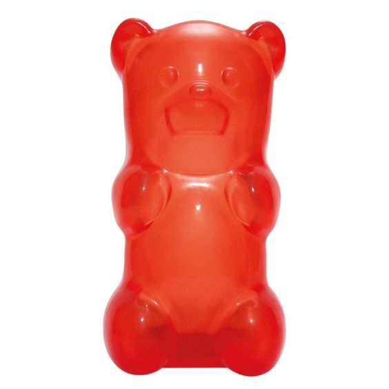 Just like an edible gummy bear only super-sized, this one also lights up when you squeeze his tummy!